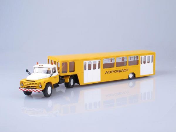 ЗИЛ-130В с полуприцепом АППА-4 (D.N.K.) [1973г., Желтый с белым, 1:43]