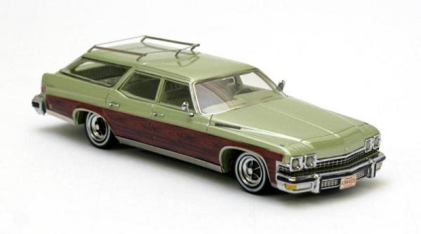 BUICK le sabre 4-door station (Neo Scale Models) [1974г., Зеленый металлик и дерево, 1:43]