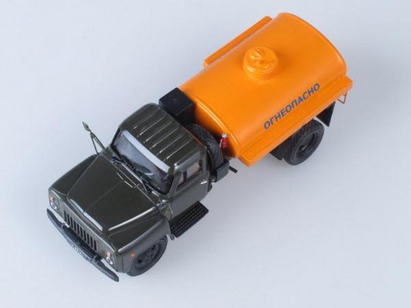 АТЗ 2.4 (ГАЗ-52-01), конверсия (НАП) бензовоз (Vector-Models) [1966г., Темно-зеленый с оранжевым, 1:43]