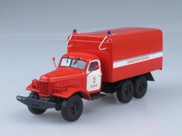 АРЗ-П (ЗИЛ-157К) завода Прогресс, пожарная охрана (Vector-Models) [1990г., Красный с белым, 1:43]