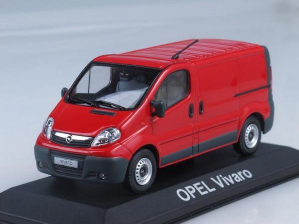 Opel Vivaro Kastenwagen (Minichamps) [2006г., Красный, 1:43]