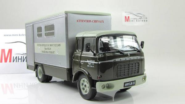 Berliet Centre Hippique (Atlas/IXO) [1976г., Зеленый/серый, 1:43]