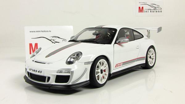 Porsche 911(997) GT3 RS 4.0 (Autoart) [2010г., Белый, 1:18]