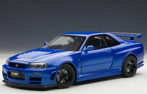 Nissan Skyline GT-R (R34) Nismo Z-Tune 2005 (Autoart) [2005г., Синий, 1:18]