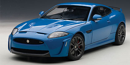Jaguar XKR-S, french racing blue (Autoart) [2010г., Синий, 1:18]