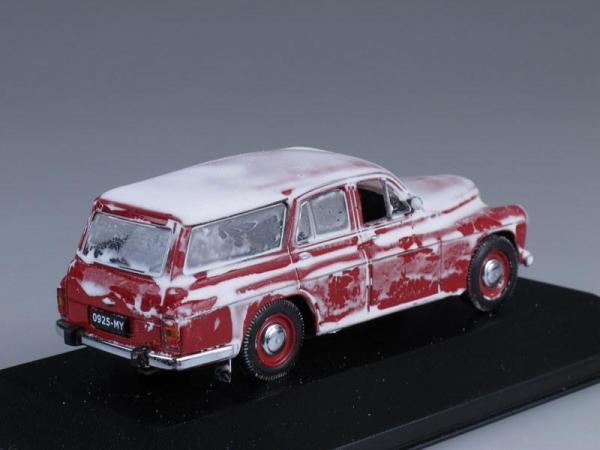 Warszawa 203 Kombi покрытая снегом (IST Models) [1960г., Красный, 1:43]