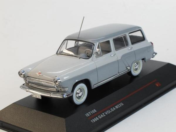 ГАЗ-22Г «Волга» (Экспортный вариант) (IST Models) [1964г., Светло и темно-серый, 1:43]