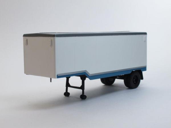 ЗИЛ-130В седельный тягач (ранняя облицовка радиатора) с полуприцепом ОДАЗ (D.N.K.) [1962г., Бело-синий, 1:43]