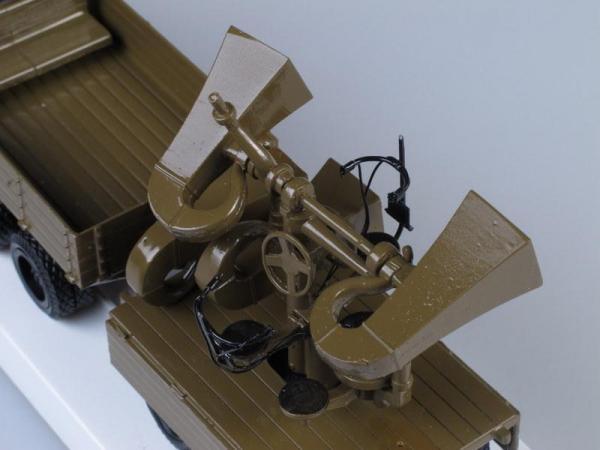 ЗИС-6 с двухосным прицепом и звукоулавливателем (ЛОМО-АВМ) [1939г., Хаки, 1:43]
