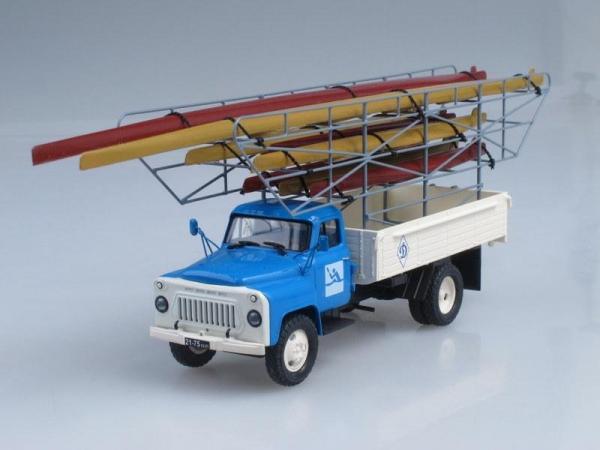 """ГАЗ-53А спортивная гребля """"Динамо"""" (Vector-Models) [1961г., Голубой с белым, 1:43]"""