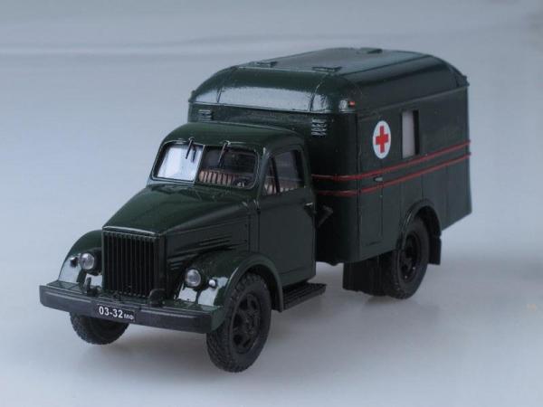 АС-3 (ГАЗ-51А) перевозка раненых, конверсия (НАП) (Vector-Models) [1955г., Темно-зеленый, 1:43]