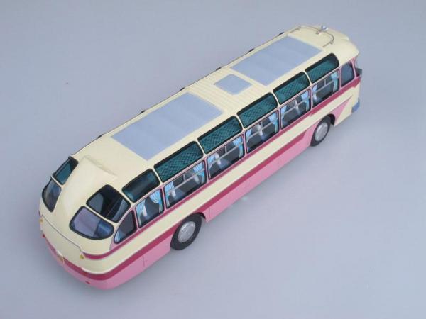 """ЛАЗ-699А """"Карпаты-1"""" (Vector-Models) [1960г., Бежевый с розовым, 1:43]"""