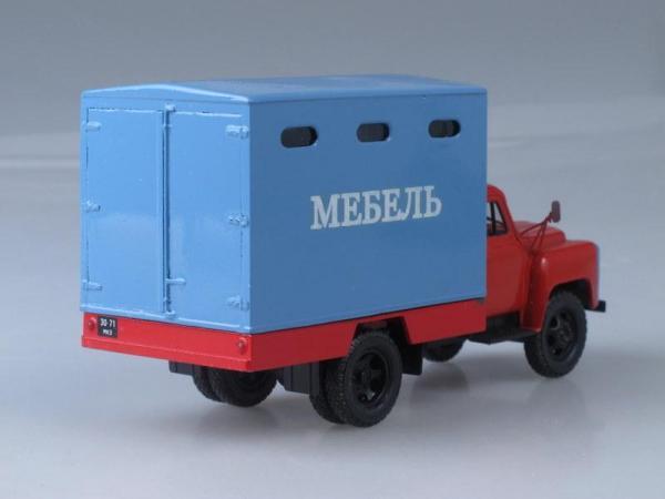 ГЗТМ-954 (ГАЗ-52-04) мебельный фургон (Vector-Models) [1975г., Голубой с красным, 1:43]