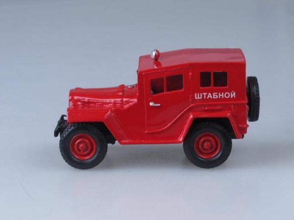 ГАЗ-67-422 Пожарный штаб (Vector-Models) [1943г., Красный, 1:43]
