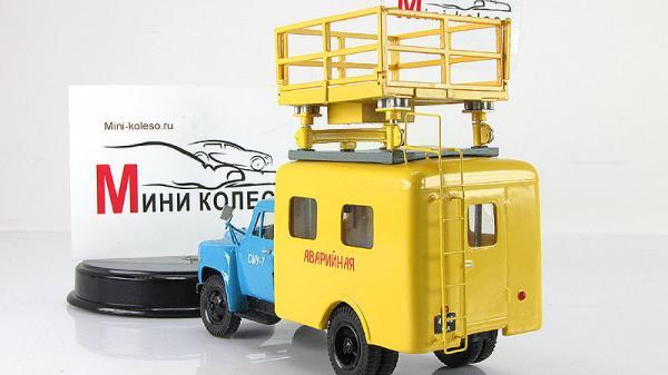ГАЗ-52-04 (АТ-70) Ремонт контактной сети (Аварийная) (Vector-Models) [1960г., Голубой с желтым, 1:43]