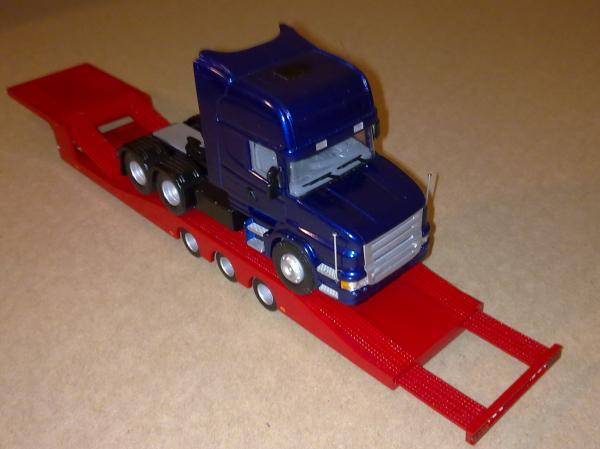 Scania T (BY.VOLK) [1995г., красный мет, синий мет., 1:43]