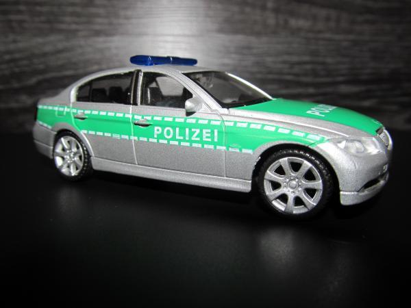 BMW 330i полиция Гемании (Welly) [2005г., Серебро, 1:43]