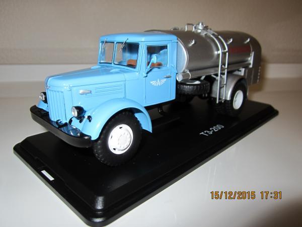 МАЗ-200 ТЗ (Start Scale Models (SSM)) [1957г., голубой+серебро, 1:43]