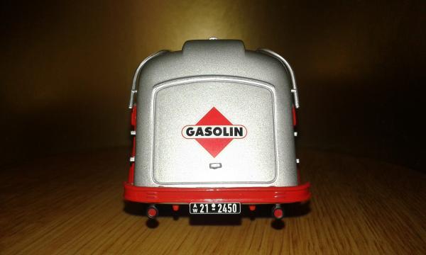 Mercedes-Benz L3500 Gasoline Tank (Minichamps) [1958г., красный,, серебристый, 1:43]