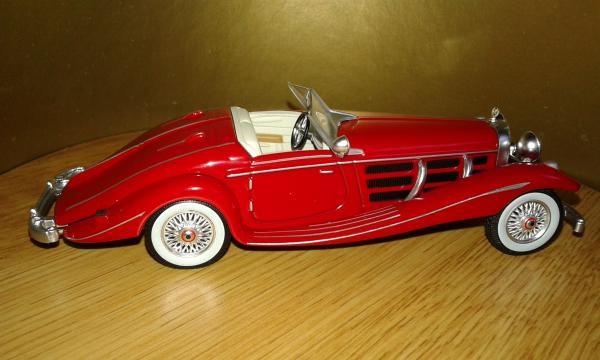 Mercedes-Benz 540К Roadster (Altaya/IXO) [1936г., красный, 1:43]