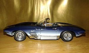 Chevrolet Corvette Mako Shark ХР-755 (Autoart) [1961г., темно синий-белый спектр, 1:43]