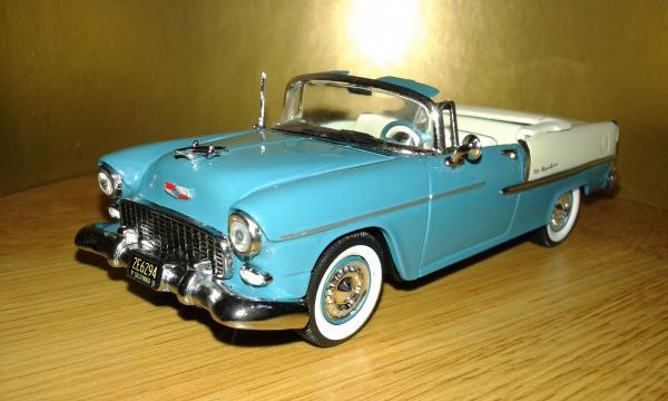 Chevrolet Bel Air (Vitesse) [1955г., бирюзовый, белый, 1:43]