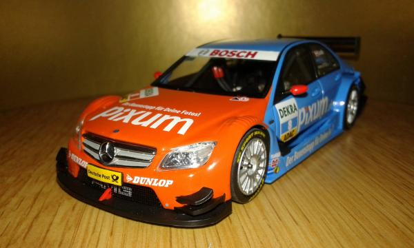 Mercedes-Benz C-Class DTM M.Lauda (Minichamps) [2008г., голубой оранжевый, 1:43]