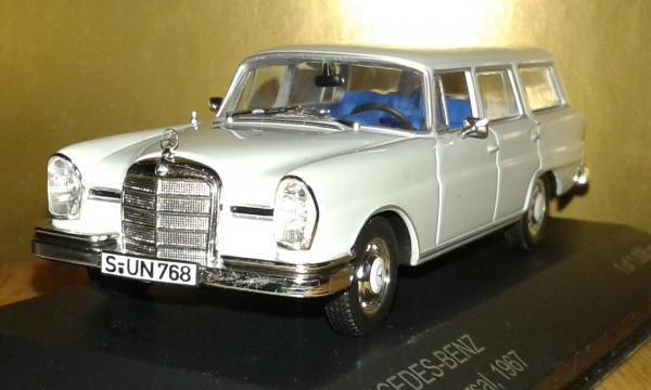 Mercedes-Benz 230S Universal (WhiteBox) [1967г., серый, 1:43]