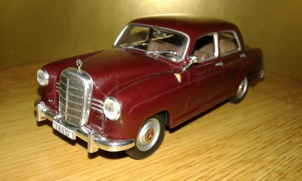 Mercedes-Benz 180D Ponton (Altaya) [1954г., бордовый, 1:43]