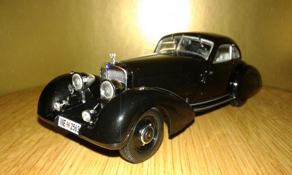 Mercedes-Benz 500K Autobahn-Kurier (WhiteBox) [1935г., черный, 1:43]