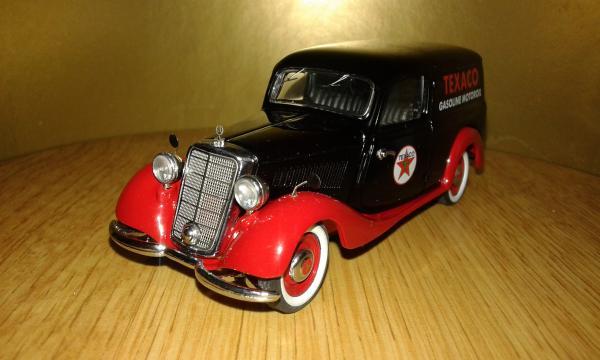 Mercedes-Benz 170V Kastenwagen (Schuco) [1936г., черный-красный, 1:43]