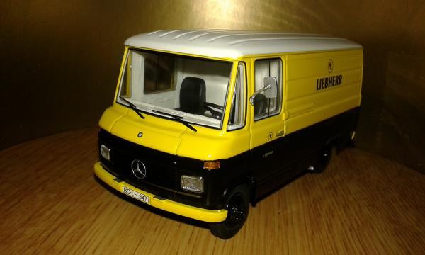 Mercedes-Benz L408 D (Schuco) [1967г., черный желтый, 1:43]