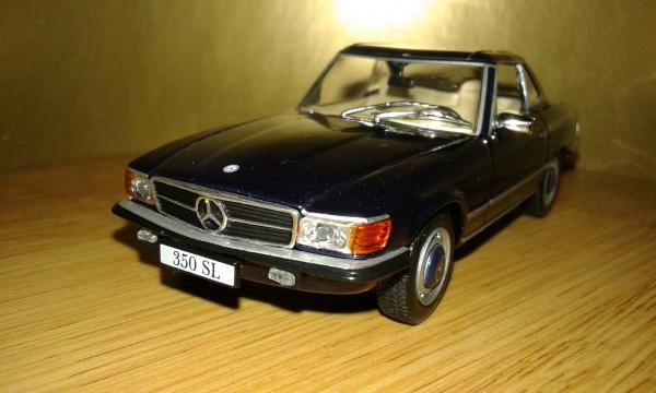 Mercedes-Benz 350SL (Altaya/IXO) [1971г., синий, 1:43]