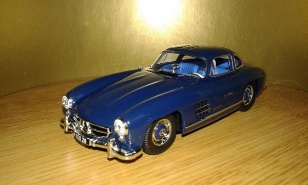 Mercedes-Benz  300 SL (IXO) [1955г., синий, 1:43]