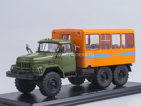 ЗИЛ-131 вахтовый автобус (Start Scale Models (SSM)) [1966г., зелёный/оранжевый, 1:43]