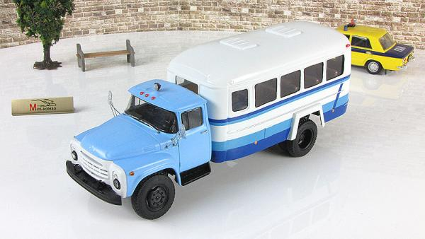 Кавз-4959 (шасси ЗИЛ- 130Г-80) (Nik models) [1980г., голубой/белый, 1:43]