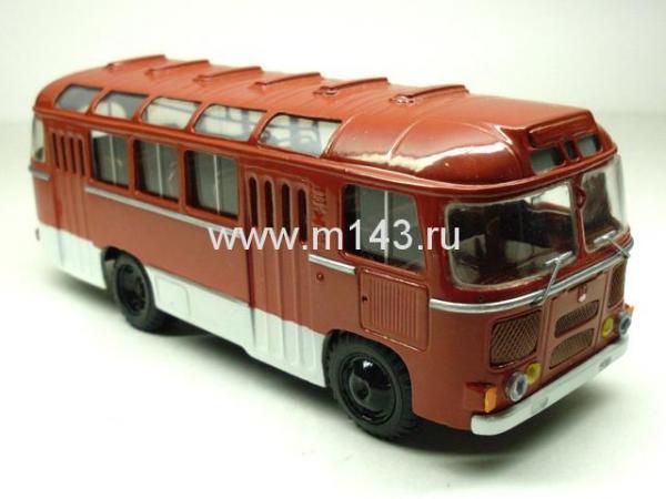 ПАЗ-672М (ФиНоКо) [1980г., белый/красный, 1:43]