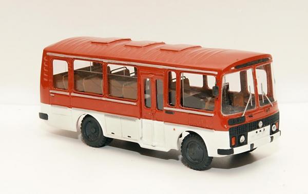 ПАЗ-3205 (ФиНоКо) [1989г., красный/белый, 1:43]