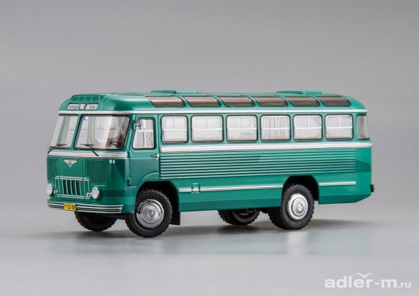 "ПАЗ-652 , маршрут ""Кисловодск - Теберда (DiP Models) [1958г., зелёный, 1:43]"