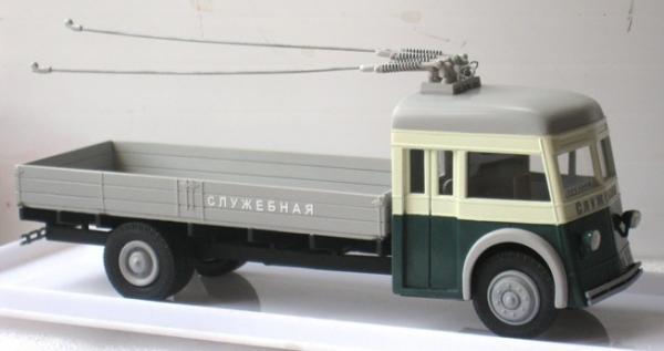 ЯТБ-4 грузовой (St.-Petersburg Tram Collection) [1945г., серый/бежевый/зелёный, 1:43]