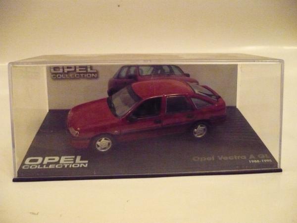 Opel Vectra A, хетчбек (1988-1995 гг.) (Opel collektion) [1988г., Вишня, 1:43]