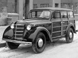Москвич-400-421 (DeAgostini (Автолегенды СССР)) [1948г., белый и комбинированный, 1:43]