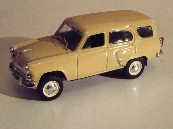 Москвич-411 (DeAgostini (Автолегенды СССР)) [1958г., бежевый, 1:43]