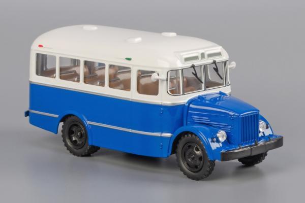 Кавз-651 (Classicbus) [1958г., серый верх, темно-синий низ, 1:43]