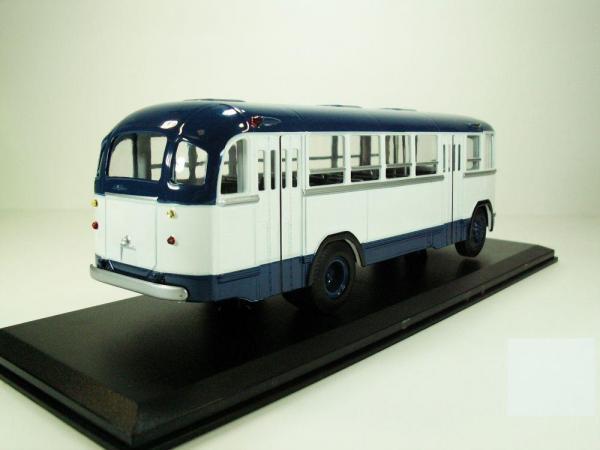 ЛиАЗ-158В (Classicbus) [1961г., Белый, темно-синие полосы, 1:43]