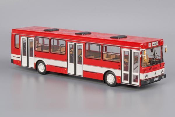ЛиАЗ-5256.00 (Classicbus) [1990г., красный, с белой полосой, 1:43]