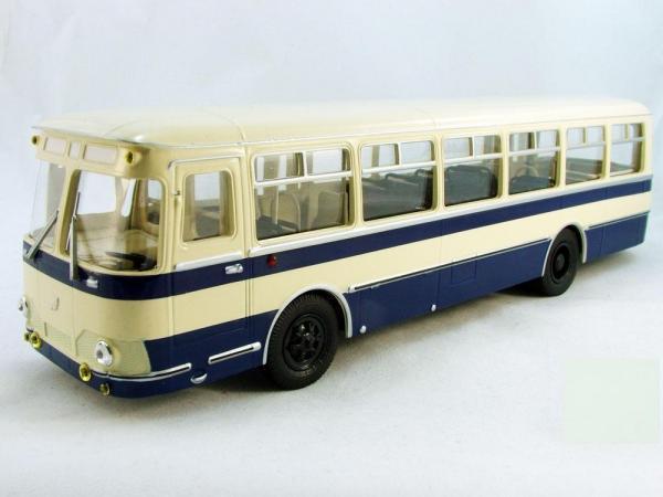 Лиаз-677 (Classicbus) [1967г., Бежевый, синии полосы, 1:43]