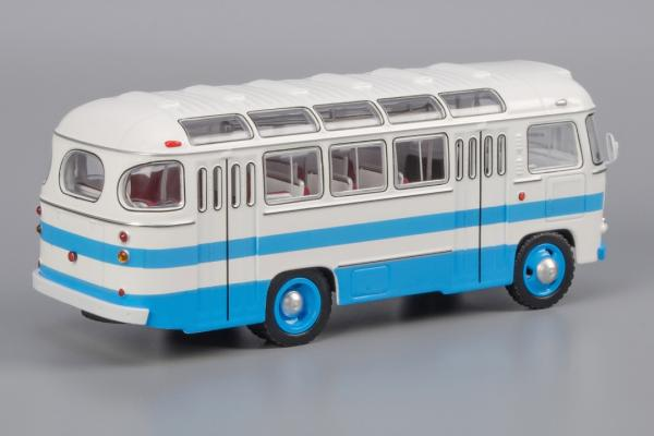ПАЗ - 672 (Classicbus) [1968г., белый, голубые полосы, 1:43]