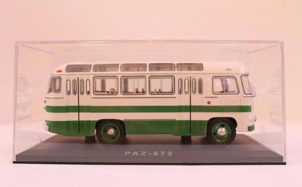 ПАЗ - 672 (Classicbus) [1968г., белый, зелёные полосы, 1:43]