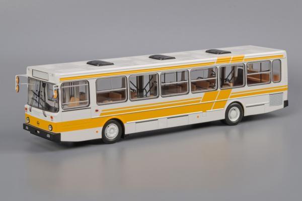 ЛиАЗ-5256.00 (Classicbus) [1990г., белый, с желтыми полосами, 1:43]